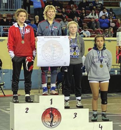 Hinton Trio Enjoy Girls Wrestling History